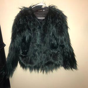 Jackets & Blazers - Green Fur Coat